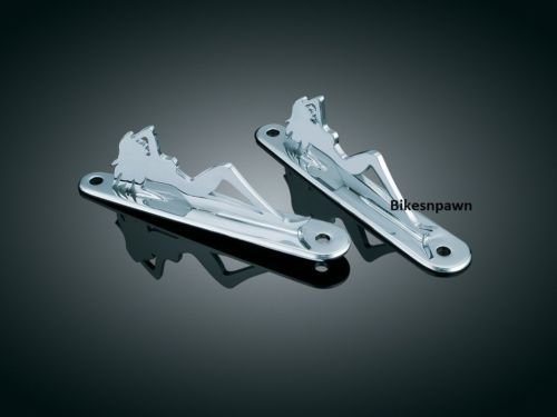 New Kuryakyn 929 Silhouette Tie Down Brackets 83-13 FLHT 94-15 FLHR