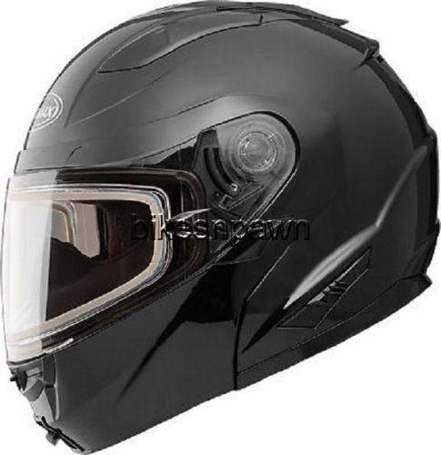 New XL GMax GM64S Black Carbide Modular Snowmobile Helmet  w/ Electric Shield