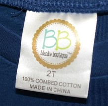 Blanks Boutique Boys Long Sleeved Romper Color Blue Size 2T image 2