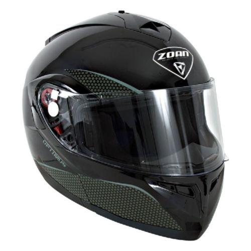 New S Zoan Optimus Gloss Black Modular Snowmobile Snow Helmet 038-014SN