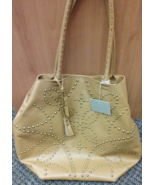 Isabella Fiore Genuine Leather Stud Accent Handbag New With Tags Valued ... - $69.99