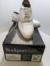 Brand New Rockport Womens Golf Shoes Leather White 6M Turfwalker ST W186... - $39.59