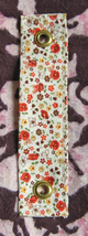 Mandolin Strap Accessory/Use Your Guitar Strap For Mandolin/Calico Print - $5.99
