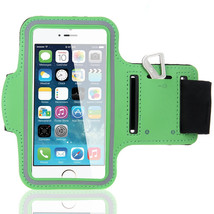 Sports Running Workout Gym Armband Case Cover Samsung Galaxy Note 3 4 Green - $5.86