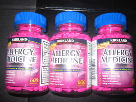 Diphenhydramine Kirkland 3-600 Tablets Bottles allergy medicine - $22.32