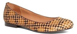 NEW BROOKS BROTHERS Womens Houndstooth Ballet Flats Tan Brown Size 9M $2.28 - $57.88