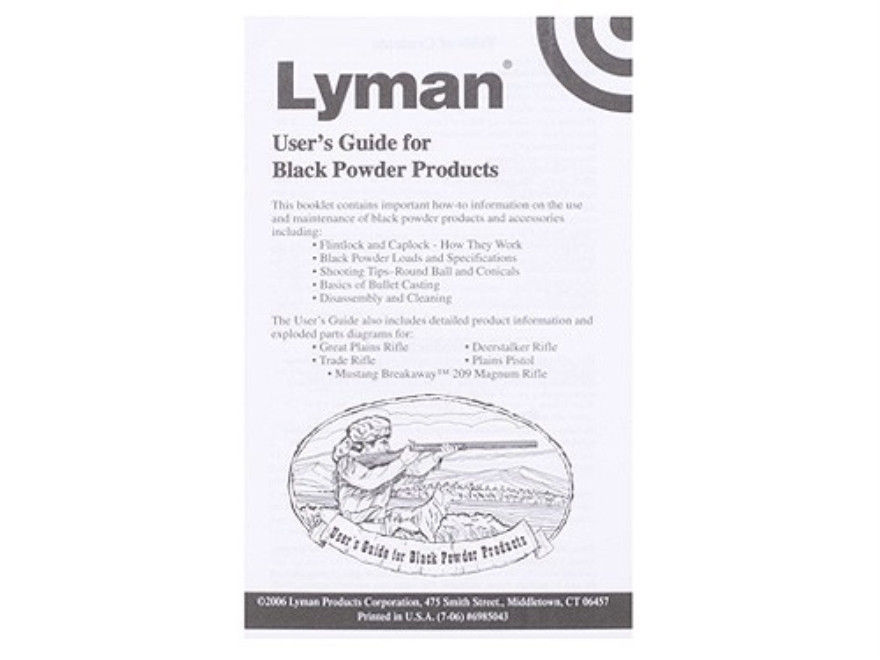 Primary image for Lyman Black Powder User's  Guide * 6985043 * New!