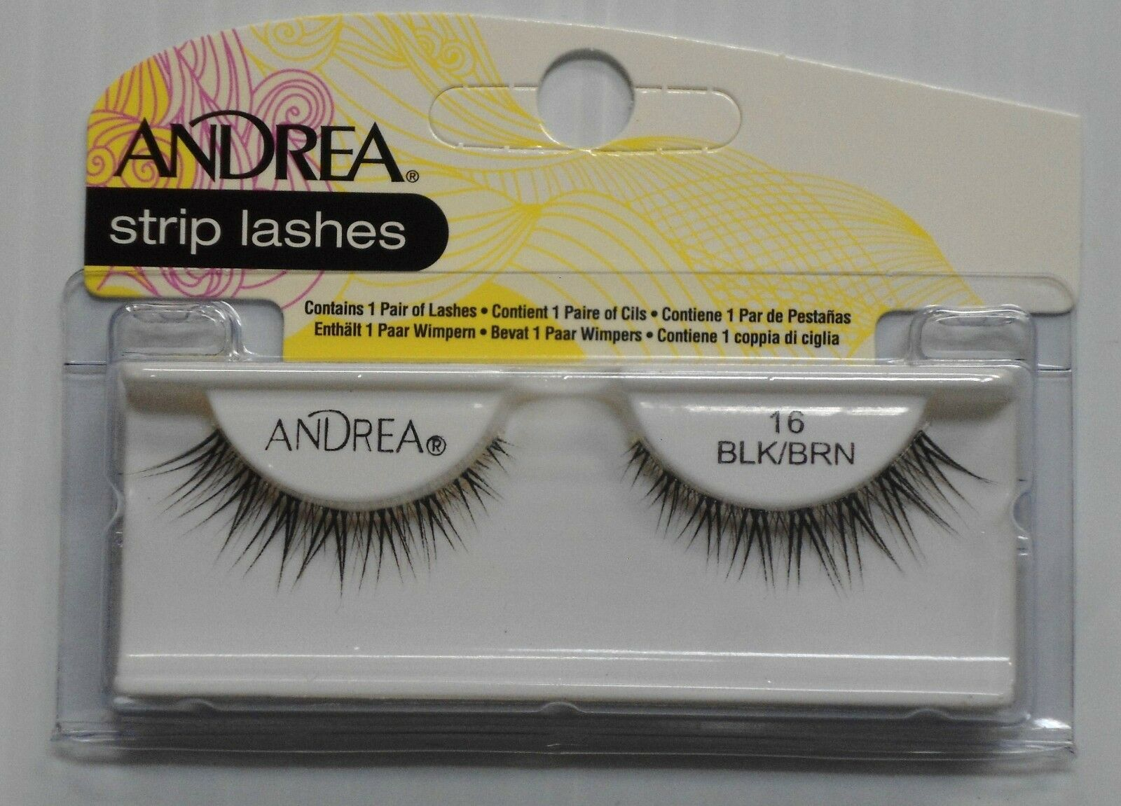 Primary image for Andrea's Strip Lashes Fashion Eye Lash Style 16 Black/Brown - (Pack of 6)