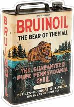 Bruinoil Pure Pennsylvania Oil Can Plasma Cut Metal Sign - $39.95