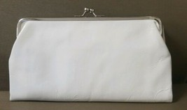 FOSSIL White Crinkle Patent Leather Clutch Wallet Foldover Kisslock Orga... - $24.74