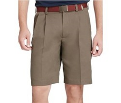 IZOD Mens Shorts Sz 32 Taupe Pleated Front Casual Mainfloor Short - $18.62