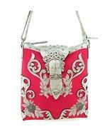 Western Rhinestone Buckle Messenger Bag Cross B... - $35.63