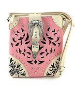 Western Buckle Lazer Cut Messenger Bag Cross Bo... - $35.63