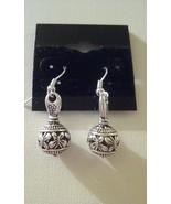 Beautiful Detailed Silver Butterfly Dangle Earrings  - $4.99