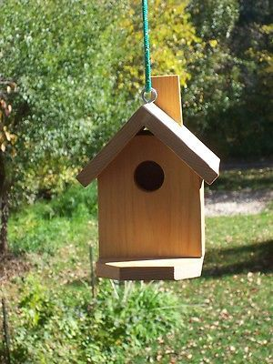 Primary image for Small Hanging Birdhouse,with platform,Handmade,with Clean-out,