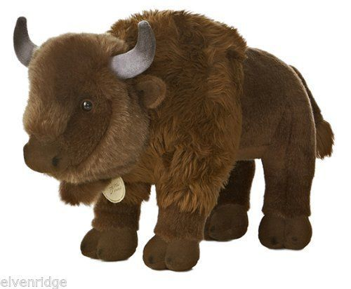 "Aurora World Miyoni Buffalo Bison 13"" Long Plush"