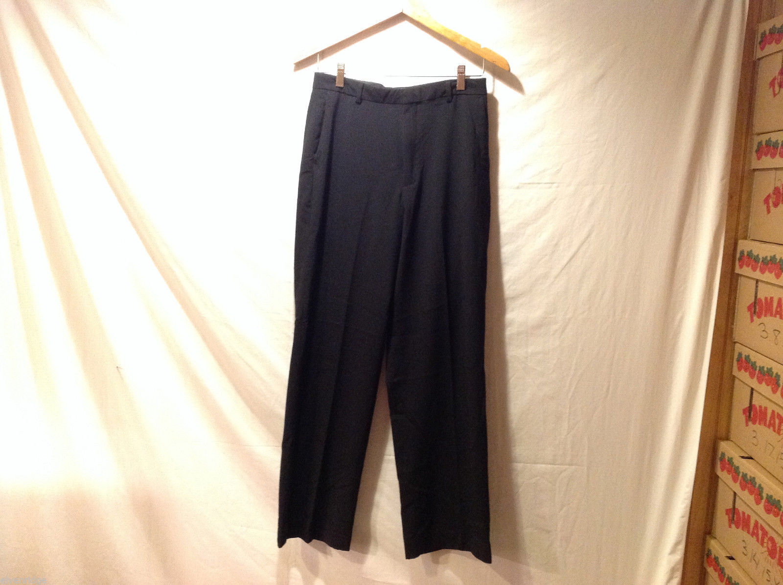 Calvin Klein Black Stretchy Dress Pants Front Back Pockets  Size 18R
