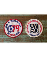 2 Vintage AYSO Embroidered Soccer Patches • Founded 1964 • 79 Traveling ... - $8.86