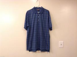 Steve & Barry's Men's Size XL Polo Shirt Casual Blue Plaid w/ 3-Button Placket