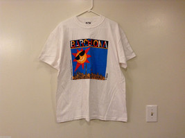 "Unisex Size XL ""Barcelona"" T-shirt Tee Top White 100% Cotton Sun City Graphic image 1"