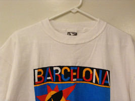 "Unisex Size XL ""Barcelona"" T-shirt Tee Top White 100% Cotton Sun City Graphic image 3"