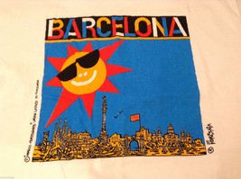 "Unisex Size XL ""Barcelona"" T-shirt Tee Top White 100% Cotton Sun City Graphic image 4"