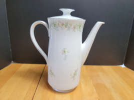Johann Haviland Forever Spring Coffee Pot White Multi-Color Floral Rim  - $24.70