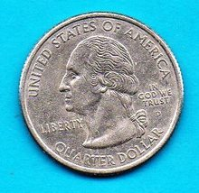 2002 D Louisiana State Washington Quarter - circulated Near Brillant - $1.25