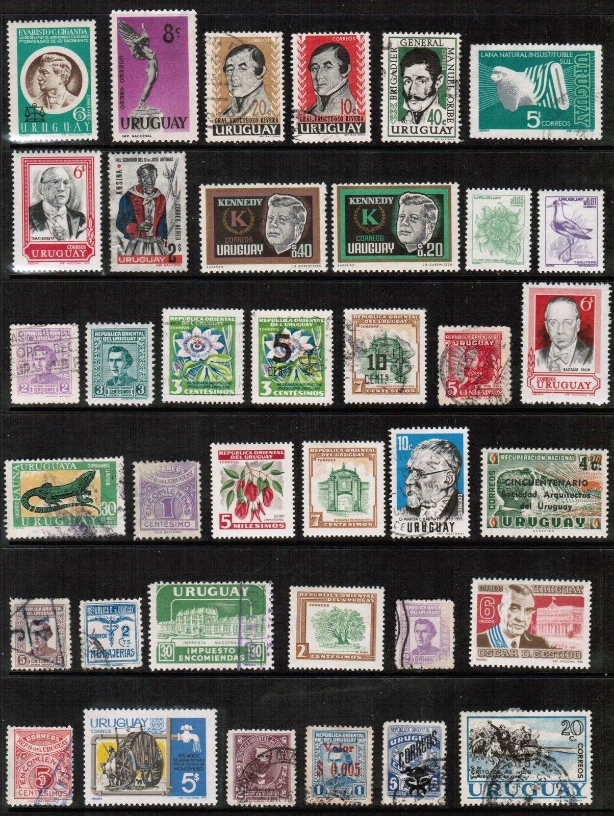 Primary image for URUGUAY---LOT of USED and UNUSED DL-104