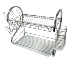 Dish Drying Rack 2 Tier Kitchen Counter Top Pla... - $38.00