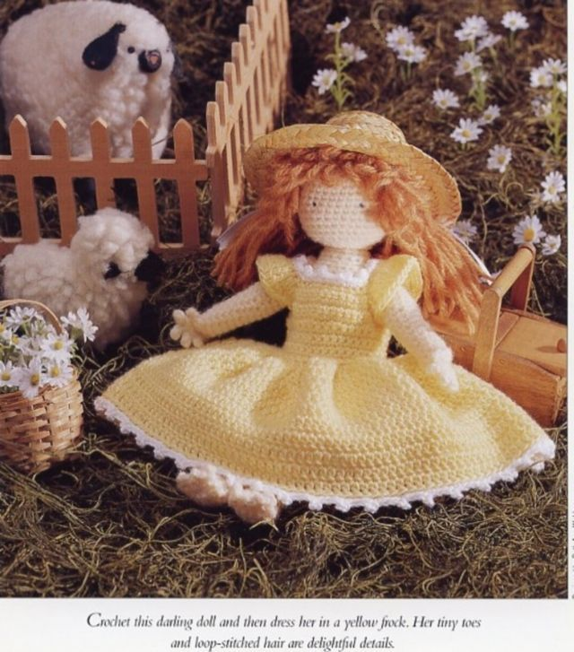 "Primary image for Sundress Anne 9.5"" Doll & Dress Vanna Crochet PATTERN/Instructions Leaflet NEW"