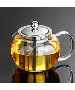 Heat Resistant Glass Tea Pot Tea Set Puer Kettle Teapot Convenient W Inf... - $18.53+