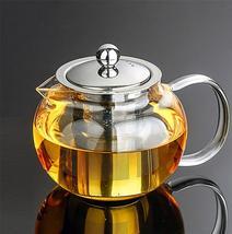 Heat Resistant Glass Tea Pot Tea Set Puer Kettle Teapot Convenient W Inf... - $18.53+