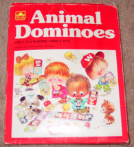 DOMINOES ANIMAL DOMINOES 1976 WHITMAN WESTERN PUBLISHING COMPLETE EXCELLENT - $12.00