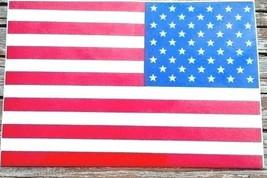"AMERICAN FLAG REFLECTIVE VINYL DECAL - REVERSE U.S. FLAG DECAL - 1.5"" x 2"" - $2.96"