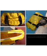 Inflatable Waterproof Duffel Bag Large Bright Yellow NIP  - $13.99