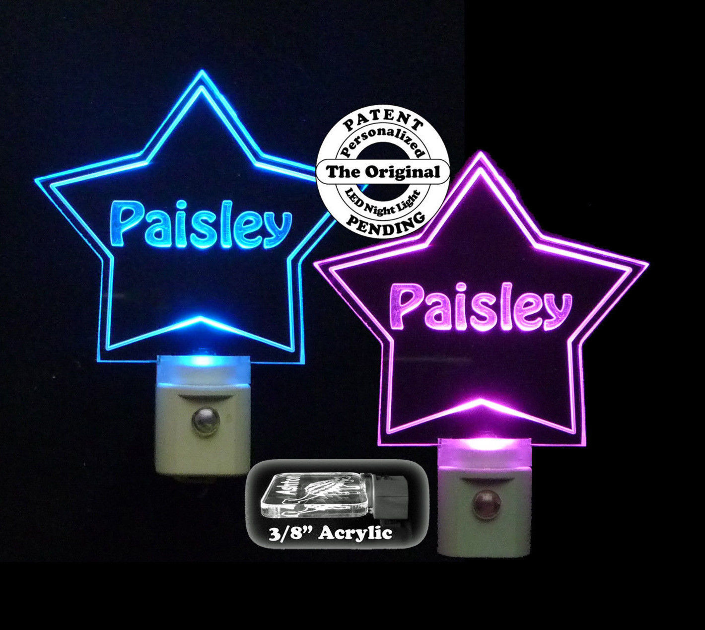 Primary image for Personalized Custom Star Shaped LED Night Light - Customized with Name