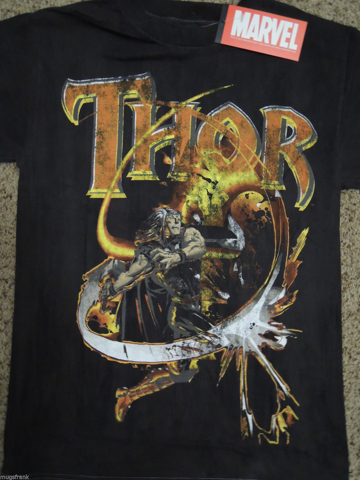 Primary image for Thor The Mighty Thor Hammer Suhwing Marvel Comics Shirt Nwt S Small