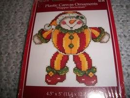 Plastic Canvas Flapper Snowman Ornament Kit - $8.00