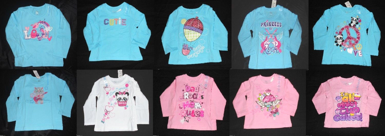 Primary image for The Children's Place Infant Toddler Girls Long Sleeve T-Shirt Many Colors Sizes