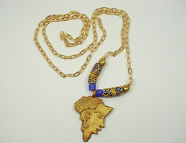 3 Long African Statement Necklaces with Ghana K... - $50.00