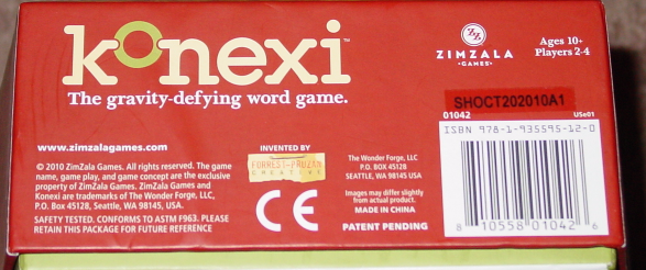 KONEXI GRAVITY DEFYING WORD GAME PREMIUM EDITION 2010 WONDER FORGE COMPLETE