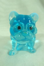 "2.5"" French Bulldog Figurine Aqua Blue Opalescent With Aqua Blue Rhinest... - $16.82"