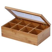 Bamboo Tea Bags Storage Box Chest Wooden Organi... - $23.74