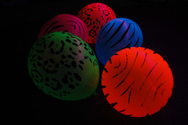 11 inch Assorted Safari Blacklight Reactive Latex Balloons- 25 pack - $13.95