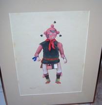 Leroy Kewanyama HOPI Original Gouache Watercolo... - $799.93