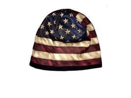New AMERICAN FLAG  TOTAL PRINT  CUFFLESS BEANIE HAT OSFM - ₨1,332.34 INR