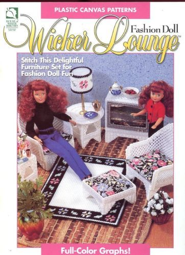 Primary image for Fashion Doll Wicker Lounge Plastic Canvas Pattern -30 Days To Shop & Pay!