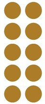 """2"""" Gold Round Color Coded Inventory Label Dots Stickers  - $3.99+"""