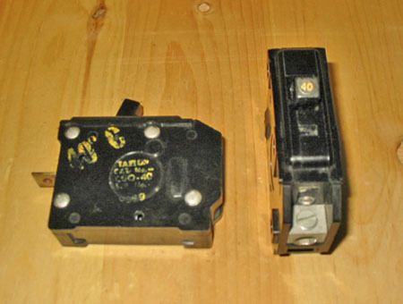 TAYLOR ELECTRIC 40 AMP 1 POLE CIRCUIT BREAKER (CGQ-40) ~ RARE!
